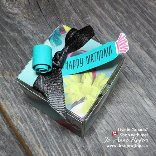 decorate stampin Up clear tiny treat boxes
