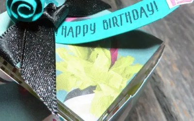 How to Decorate Stampin Up Clear Tiny Treat Boxes Birthday Style