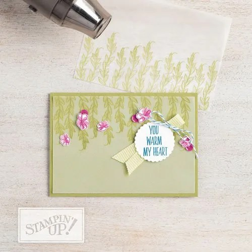 do two step stamping with Stampin Up lovely wishes