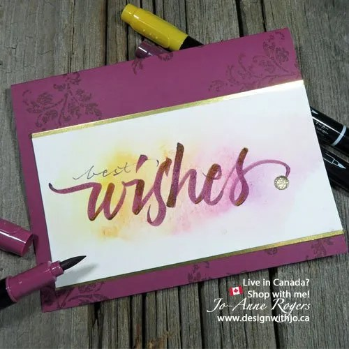 use stampin write markers to colour blend your brush lettering