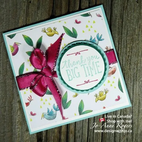 matching Designer Series Paper and coordinating cardstock is easy!