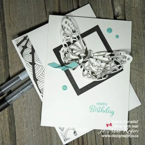 look how to make zentangle cards with detailed thinlits