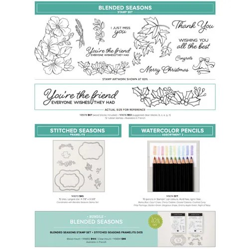 Colour Your Season Bundle Layered Card Making