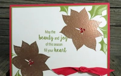 Rubber Stamping & Embossing Christmas Cards   VIDEO