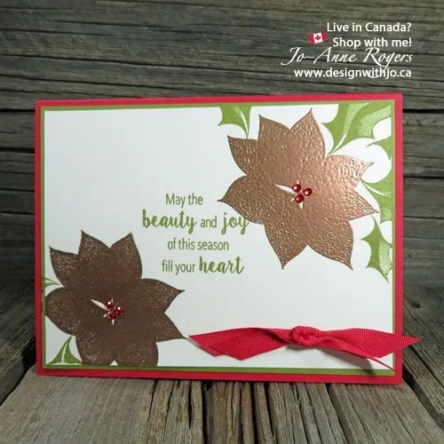 Rubber Stamping & Embossing Christmas Cards | VIDEO