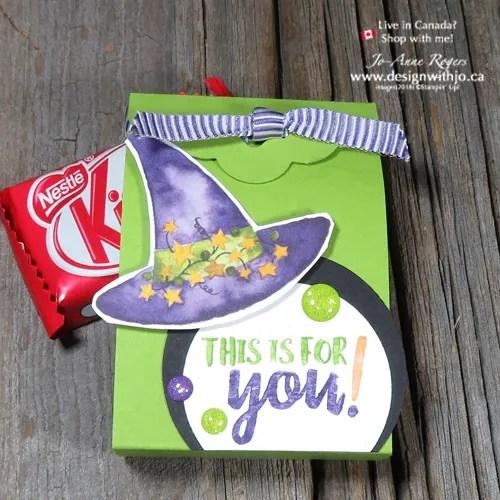 Handmade Candy Corn Countdown Easy Halloween Treat Box