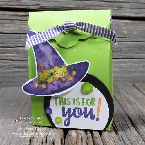 Let's make a Handmade Candy Corn Countdown Easy Halloween Treat Box