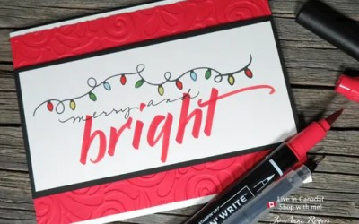 Make a Simple Holiday Card with Brush Marker Lettering