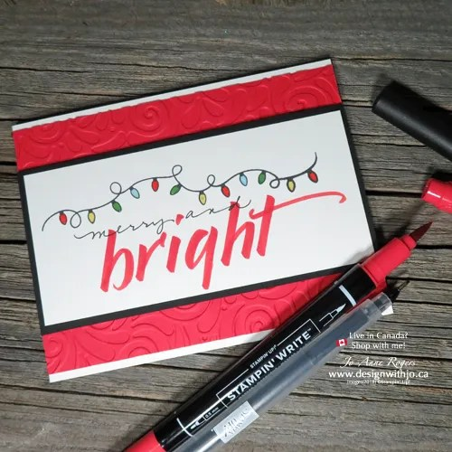 Make a Simple Holiday Card with Your Own Brush Marker Lettering