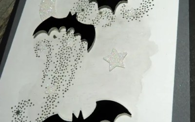Spookily Easy Watercolour Pencil Backgrounds for Halloween