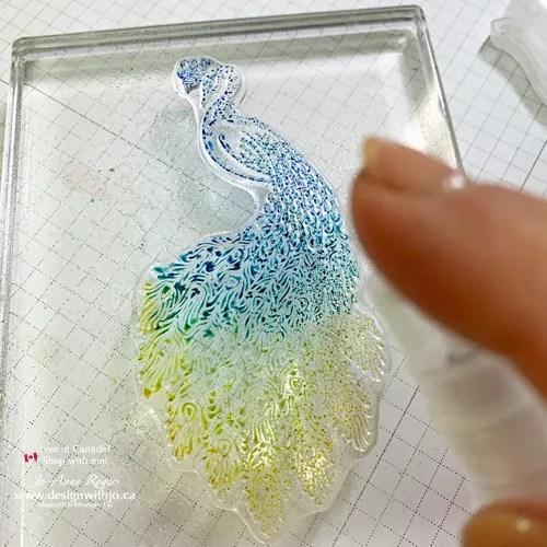 EASY PEASEY Stampin Write Markers Watercolour Spritz Technique