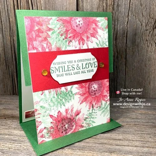 YES! I Love Christmas Card Crafting From Leftovers like this Painted Harvest Background Panel