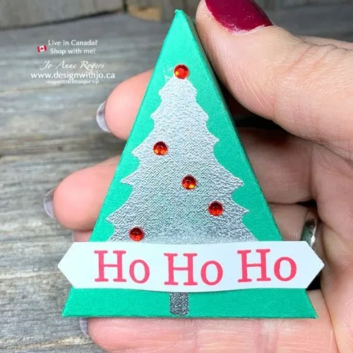 STEP by STEP Tutorial and Template to Make a Mini Christmas Tree Table Favour