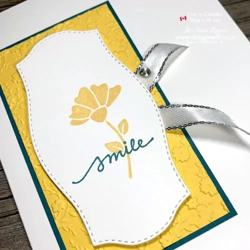 Simple Rubber Stamped Flower Card to Make at Home