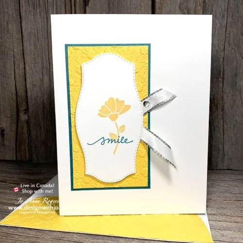 I LOVE This Simple Rubber Stamped Flower Card to Make at Home