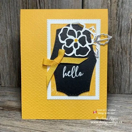 How Lovely is This Using Flower Dies for Handmade Greeting Cards?