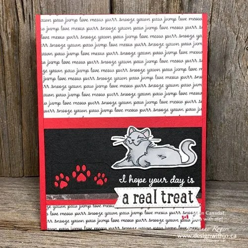 I LOVE This Handmade Cat Card for International Cat Day
