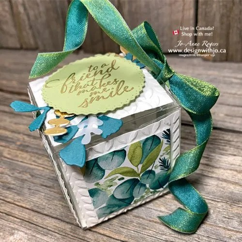 How to Decorate a Gift Box with Cutouts and Patterned Paper