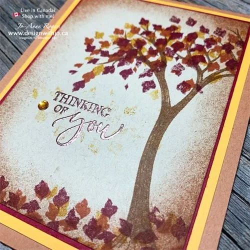 My Favourite Fall Colours for Handmade Cards