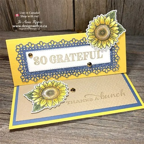 Use Your Stampin Blends for this Sunflower Card Made with Dies