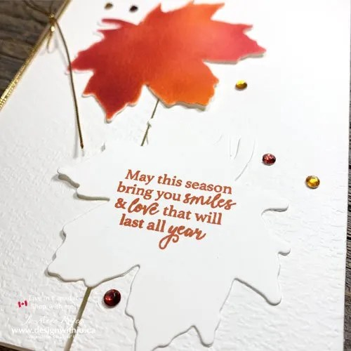 Easy Sponged Handmade Card for Autumn with the Gather Together Bundle from Stampin Up!