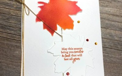 Easy Sponged Handmade Card for Autumn