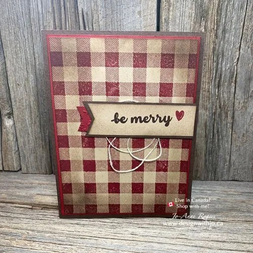 Rustic Homemade Christmas Cards for a Heartwarming Holiday are Easy with Stampin' Up!