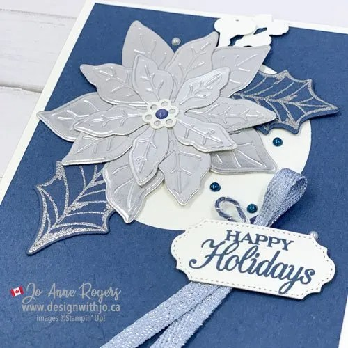 Merry Christmas 2020 with Poinsettia Dies from Stampin Up!