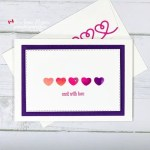 Create Watercolour Backgrounds with Stamp Pads
