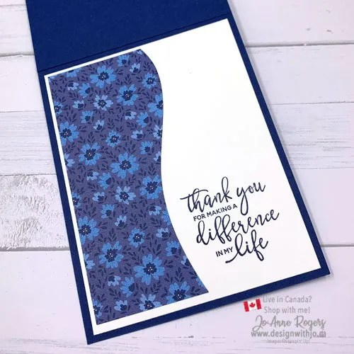 Card Making with Patterned Paper is Easy