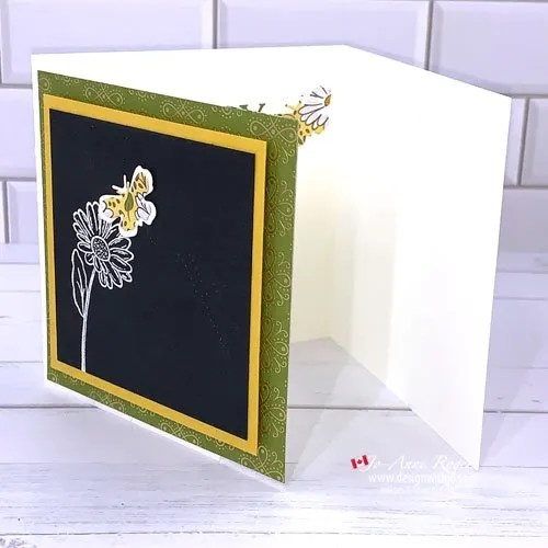 How to Use Patterned Paper for Die Cuts and a TriFold Card