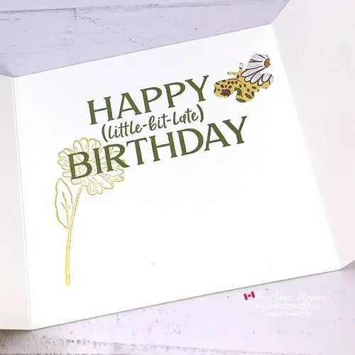 How to Use Patterned Paper for Die Cuts for this TriFold Card