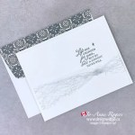 Hand Make a Sympathy Card with Ribbon and Rubber Stamps