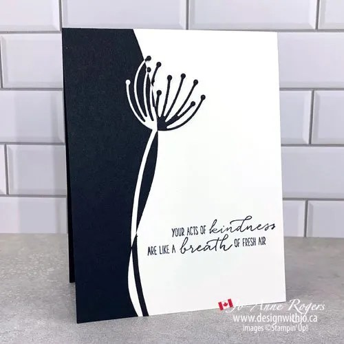 Making Handmade Cards with Dies like the Dandy Wishes and Curvy Dies from Stampin' Up! is Quick and Easy