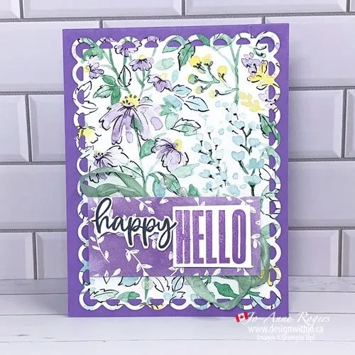 CASE the Cattie Video Use Designer Series Paper To Make a Card