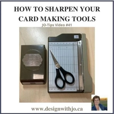 How to Sharpen Your Card Making Tools | JO-Tips #41