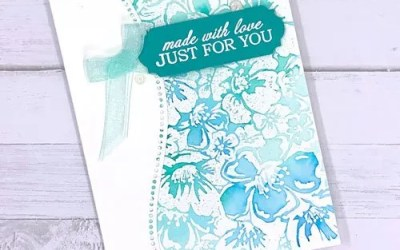 How to Use a Background Stamp to Make a Card