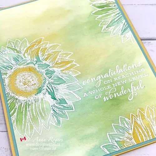 Gorgeous Emboss Resist Background with Ink Refills