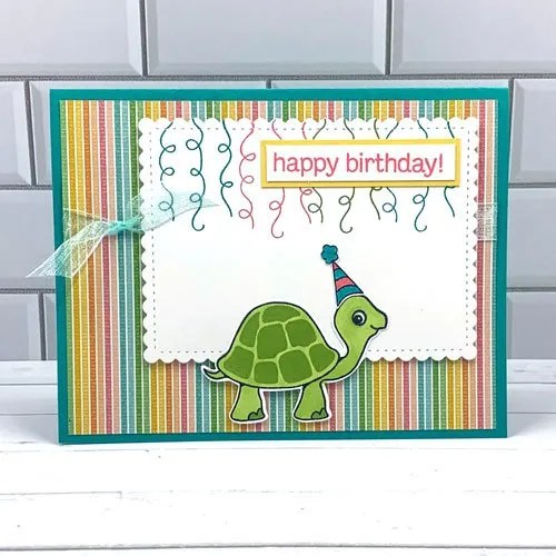 What FUN! Handmade Cards with Turtle Friends Stamps and Punch from Stampin' Up!