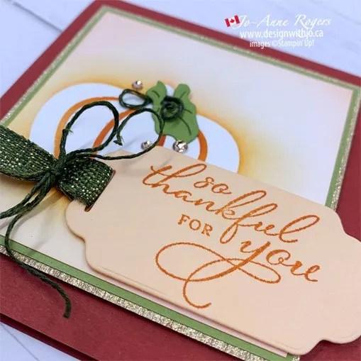 Handmade Pumpkin Thanksgiving Card