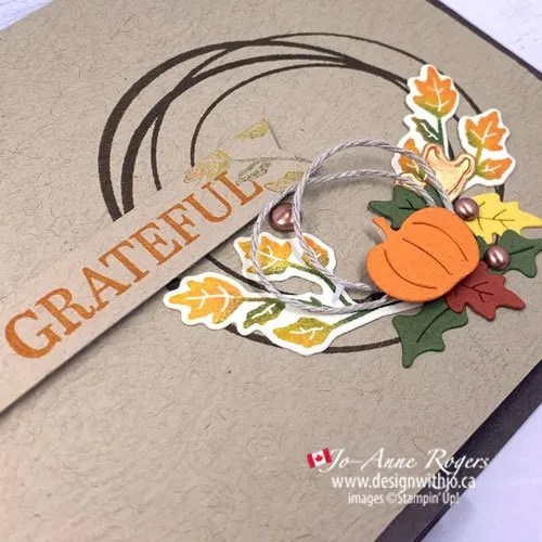 Make a Last Minute Thanksgiving Card with Rubber Stamps and Die Cuts