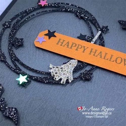 Make a Cute Halloween Wreath Card