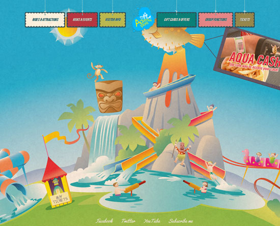 adventureworld.ourentry.com.au Site design