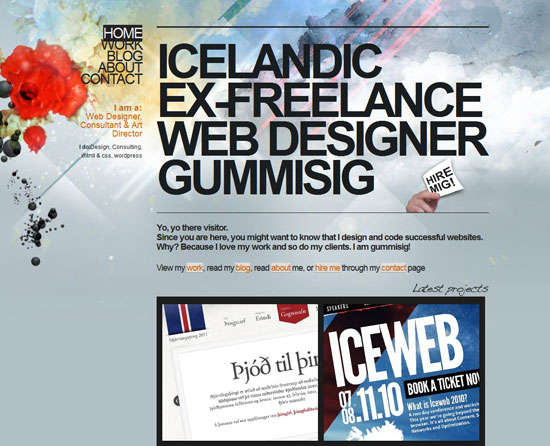 gummisig.com Site design