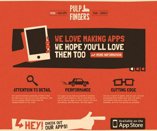 pulpfingers.com Website Design Inspiration