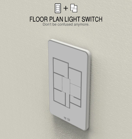 Floor Plan Light switch 2 - High Tech Gadgets To Give Your Home A Futuristic Look