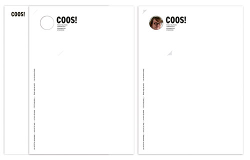 Coos! - corporate identity - Letterhead And Logo Design Inspiration