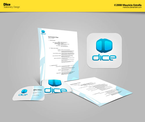 Dice - Stationery Design - Letterhead And Logo Design Inspiration