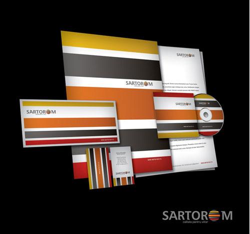 Sartorom logo + business stationery - Letterhead And Logo Design Inspiration