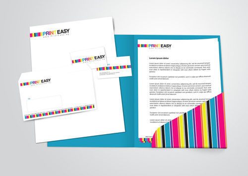 PrintEasy Stationery Set - Letterhead And Logo Design Inspiration